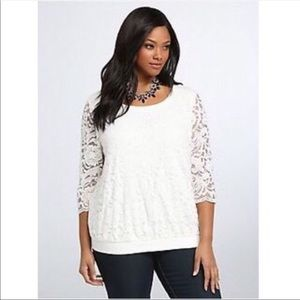 Torrid White Lace Top